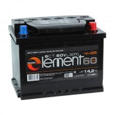 SMART ELEMENT 60 A/h Пусковой ток EN500А Обратный  -+