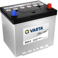 VARTA Стандарт 60 A/h Азия Пусковой ток EN520А Обратный-+