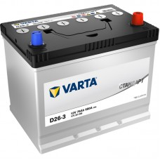 VARTA Стандарт 75 A/h Азия Пусковой ток EN680А Обратный-+
