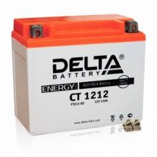 Аккумулятор Delta CT 1212 (YTX14-BS) 12Аh EN155 Прямая+-