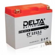Аккумулятор Delta CT 1212.1 (YT12B-BS) 12Аh EN125 Прямая+-