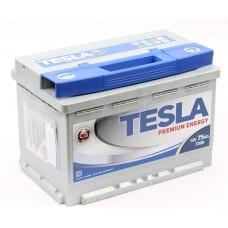 TESLATESLA PREMIUM 75 A/h Пусковой ток EN720А Обратный-+ низкий