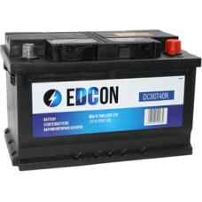 EDCON 80 A/h Пусковой ток EN740А Обратный-+низкий