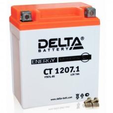Аккумулятор Delta CT 1207.1 (YTX7L-BS) 7Аh EN100 Обратная-+