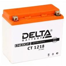 Аккумулятор Delta СT 1218 (YTX20-BS) 18Аh EN270 Прямая+-
