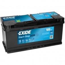 EXIDE Start-Stop AGM 105 A/h Пусковой ток EN950А Обратный -+