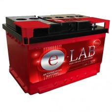 E-LAB 75A/h Пусковой ток EN680А Обратный-+