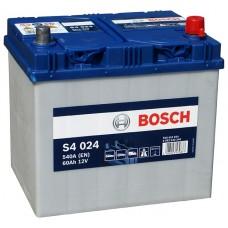 BOSCH S4 60 A/h Азия Пусковой ток EN540А Обратный-+