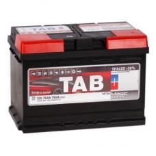 TAB  MAGIC 75 A/h Пусковой ток EN720А Обратный+-низкий