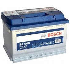 Bosc S4 74 A/h Пусковой ток EN680А обратный-+