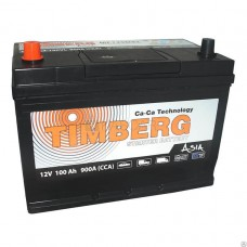 Timberg 100 A/h Азия Пусковой ток EN900А Прямой+-