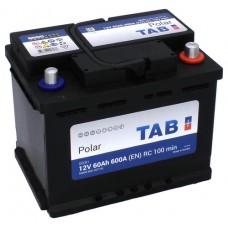 TAB POLAR 60 A/h Пусковой ток EN600А Обратный-+