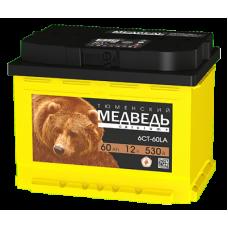 Тюменский Медведь 60 A/h Пусковой ток EN530А Обратный -+