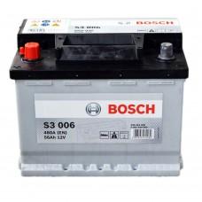 Bosch 56 A/h Пусковой ток EN480А Обратный-+