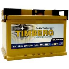 TIMBERG GOLD 61 A/h Пусковой ток EN600А Обратный - + низкий